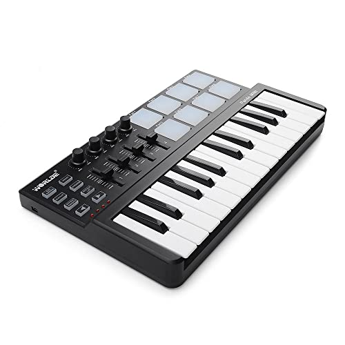 Worlde Panda MINI Portable 25 Keys USB MIDI Keyboard MIDI Controller with Drum Pad