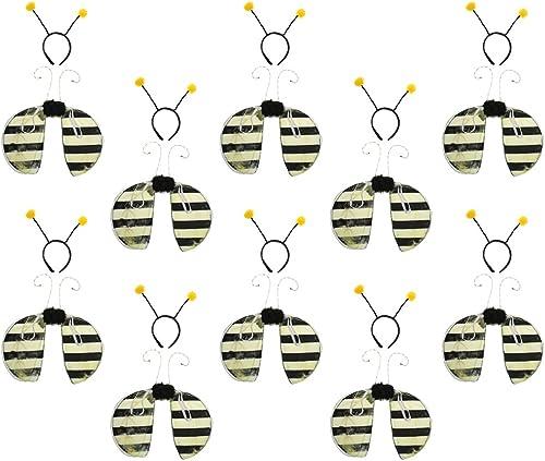 Ven a elegir tu propio estilo deportivo. Baoblaze 10x Diadema con 10x Ala de de de Abeja Apoyos de Cosplay Regalo Niños Venda Disfraces Insectos  auténtico