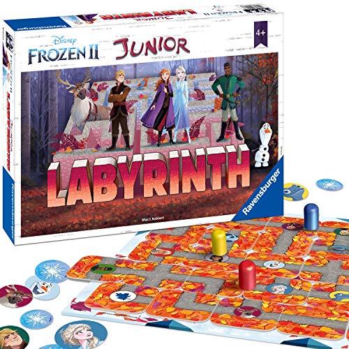 Ravensburger Kinderspiele 20416 - Junior Labyrinth , das weltbekannte Brettspiel mit den beliebten Figuren aus Disney\'s Eiskönigin 2.
