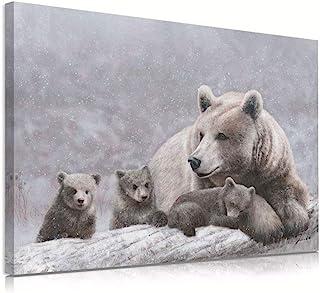 Bear Love Art nursery decor Good catch bear wall decor bear lover bedroom wall art kids room fishing bear art print