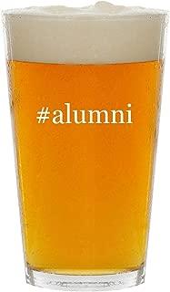 #alumni - Glass Hashtag 16oz Beer Pint