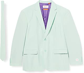 OppoSuits Solid Color Party Suits for Men – Magic Mint – Full Suit: Includes Pants, Jacket And Tie Abito da Uomo