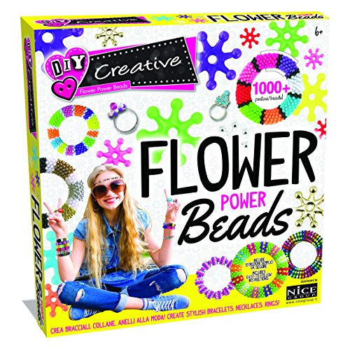 Flower Power Beads- Nice Group 46000-Set Creazione Perline con Effetto 3D per Bambini, 46000