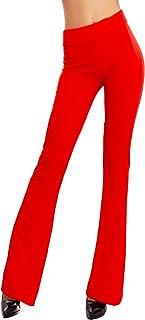 Toocool - Pantaloni Donna Campana Aderenti Zampa Elefante Elasticizzati Hot Sexy JL-2148