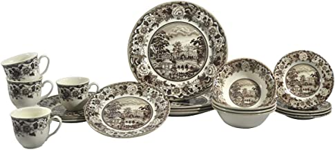 SILVERDALE 20PC DINNER SET BELMONT BROWN (1603RS201)