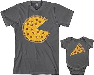 Pizza Pie & Slice Infant Bodysuit & Men's T-Shirt Matching Set