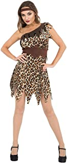 Womens Sexy Cave Girl Cavewoman Jungle Outfit Fancy Dress Costume
