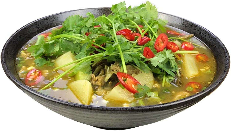 Céramique Big Bowl, ménage à domicile bol de légumes boulette Bol à salade de fruits bol RaHommes bol cuit à la vapeur poisson bol nouilles bol 12 pouces   14 pouces (Couleur    1, taille   36.5  12CM)