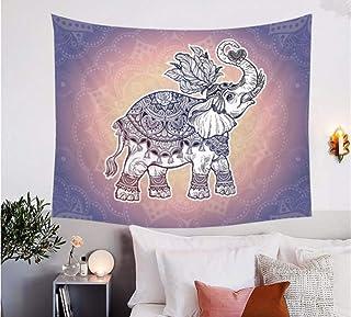 lbonb Mandala Indian Elephant Mandala Tapestry Ethnic Royal Symbols Wall Hanging For Living Room Bohemian Bedspreads X