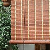 HWLL Persiana Enrollable Persianas Enrollables de Sombra Marrón para la Parte Superior de La Ventana/Exterior, Persianas Enrollables de PVC Impermeable con Polea, 60cm - 145cm de Ancho