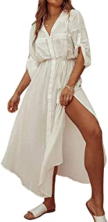 Bestyou Women's Long Kimono Jacket Cardigan Beach Maxi Dress Bathing Suit Bikini Swimsuit Cover Up Swimwear