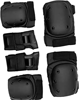 HOMYL Set of 6 Knee Elbow Wrist Pads Protective Guard Caps Safety Gear Protection for Skateboard Bike Cycling Skating Scoo...
