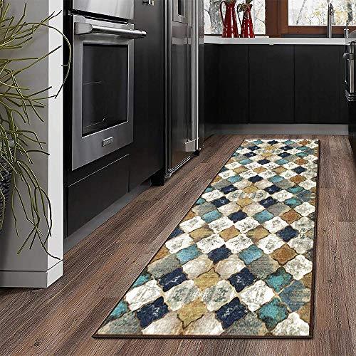 MENGH Flur Teppich 60x460cm, KüChenläUfer rutschfest, rutschfest & leicht abwaschbar, für Wohnzimmer Flur Küche