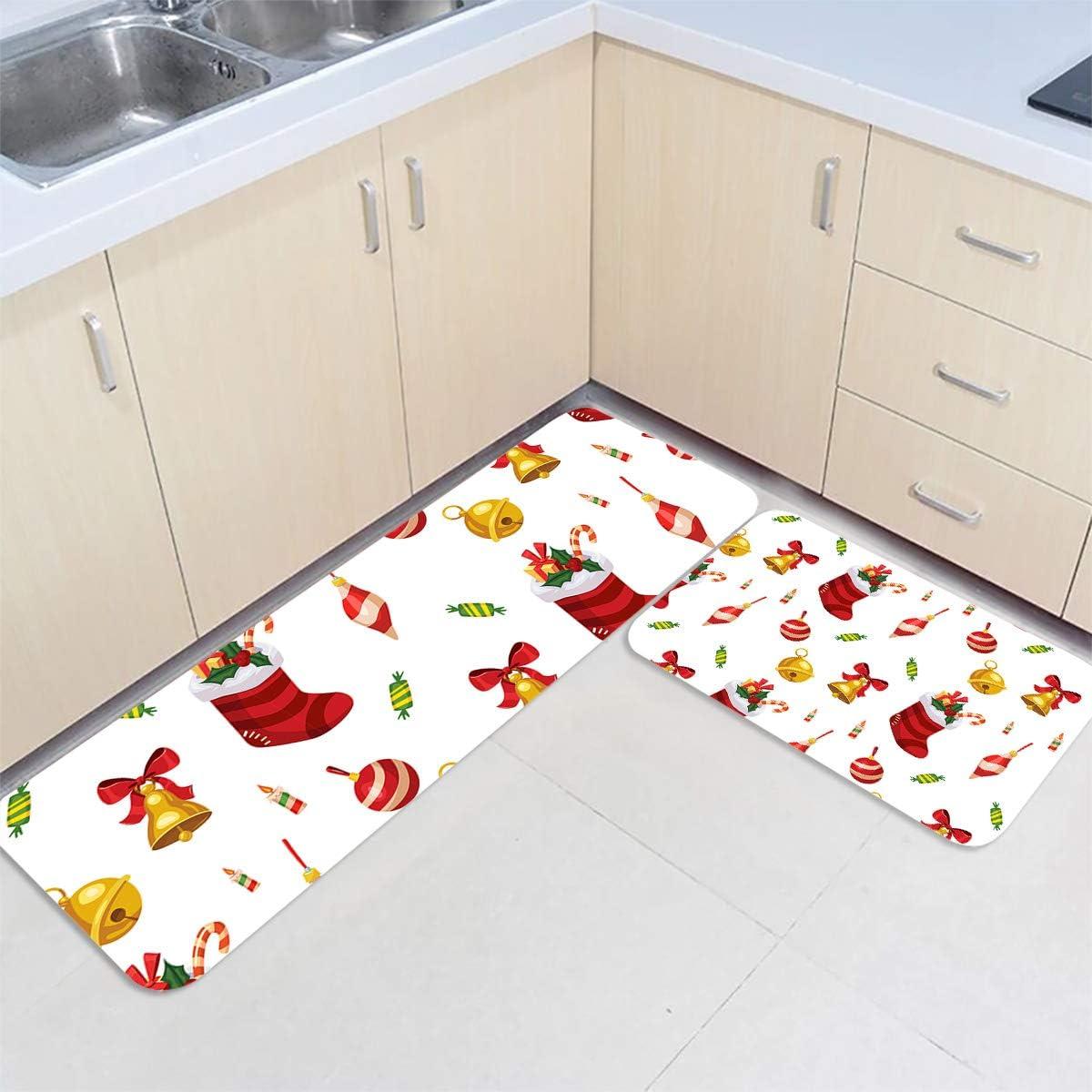 IDOWMAT Kitchen Mat Set of Don't miss the campaign Premium Floor 2 Non-Slip Max 50% OFF