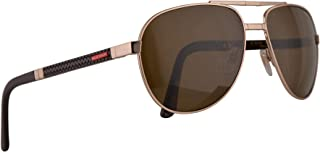 c2a3e2ac68 Chopard Mille Miglia SCHB81 Folding Sunglasses Shiny Red Gold w Polarized  Brown Lens 61mm A39P