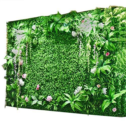 YNFNGXU Fondo De Cobertura Artificial Panel De Pared De Plástico Sintético Pantalla De Privacidad De Césped Artificial Hiedra Decoración Exterior For El Hogar,100x100cm (Color : 04)