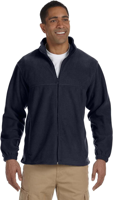 Harriton Men's 8 oz. Full-Zip Fleece - NAVY - 2XL
