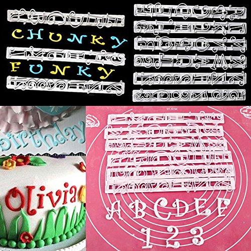 6 stks Alfabet Letter Nummer Cutter Gereedschap Cake Decoratie Fondant Suikerwerk Vorm