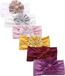 Baby Nylon Headbands Hairbands Hair Bow Elastics for Baby Girls Newborn Infant Toddlers Kids (Super soft-H)