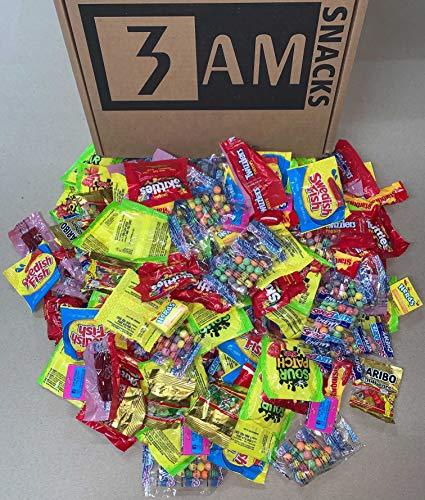 3 AM Snacks 8 Flavors, Assorted Gummi Candy Treats, Trans Fat Free, 6.25 Pound Box