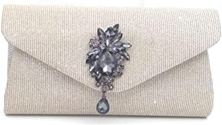 Women's Evening Bag/Wedding Party Prom Wedding Ladies Clutch Bag,Gray,22 * 11.5 * 6CM