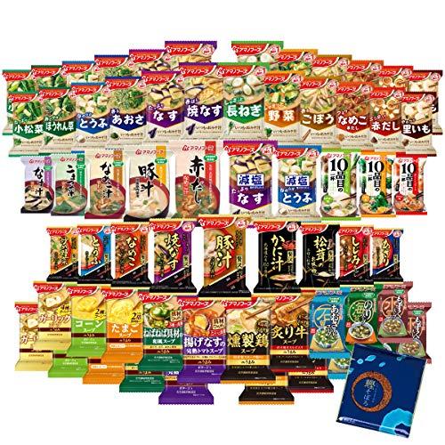 アマノフーズ フリーズドライ 味噌汁 スープ 豪華 37種類 74食 小袋ねぎ1袋 セット
