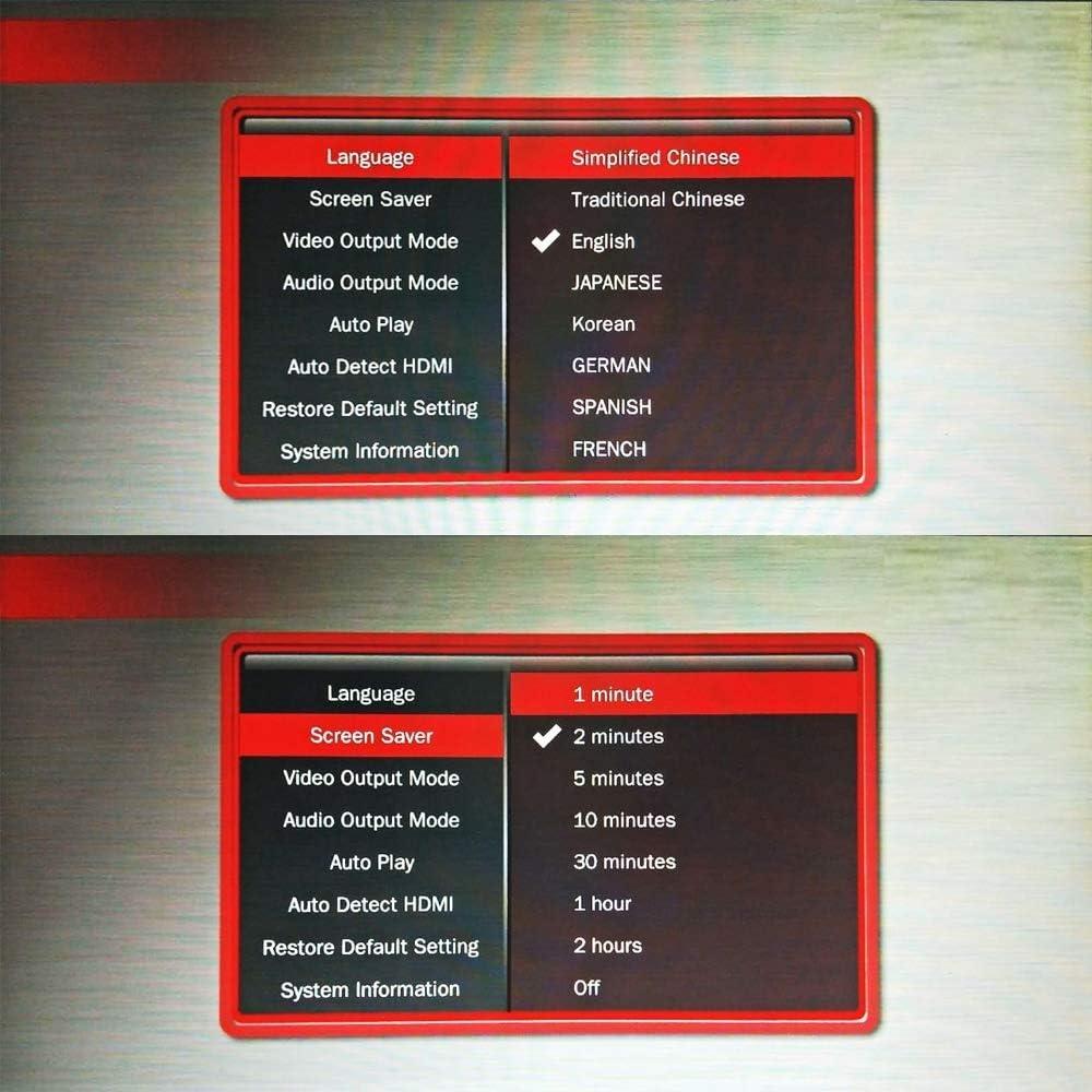 Sichen Network Mini 1080P Summate HD Media USB HDD SD/MMC Card Player Box (Color : Blue)