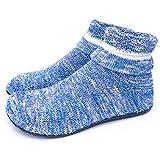 Dream Bridge Zapatillas de Estar por Casa para Mujer Calcetines de Punto Antideslizantes Calcetines con Suela de Goma Blanda