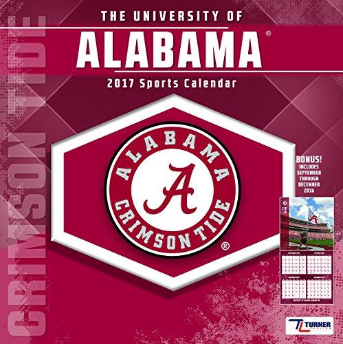"Turner Licensing Sport 2017 Alabama Crimson Tide Team Wall Calendar, 12""X12"" (17998011794)"