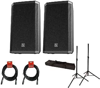 2x EV Electro-Voice ZLX-15P Active Speaker ZLX15P + Stands w/ Bag + Cables