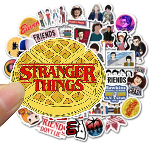 50pcs / Pack Stranger Things Laptop Stickers Impermeable Skateboard Suitcase Snowboard Fridge Phone Sticker Kids Reward Classic Toy