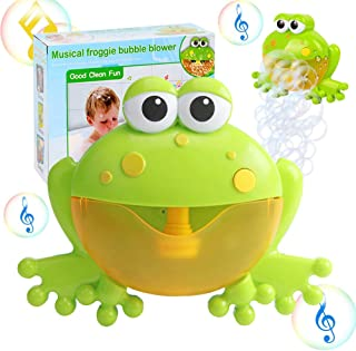 Bath Bubble Toy for Kids, Kingtree Bathtub Bubble Frog Bathing Toys Automatic Musical Bubble Maker with 12 Nursery Rhyme M...