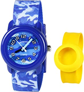 3D Kids Watch - Sport Waterproof Cute Watches - Children Lovely Cartoon Watch with Free Slap Wristband - Best Birthday Gift for 3-12 Year Boys Girls