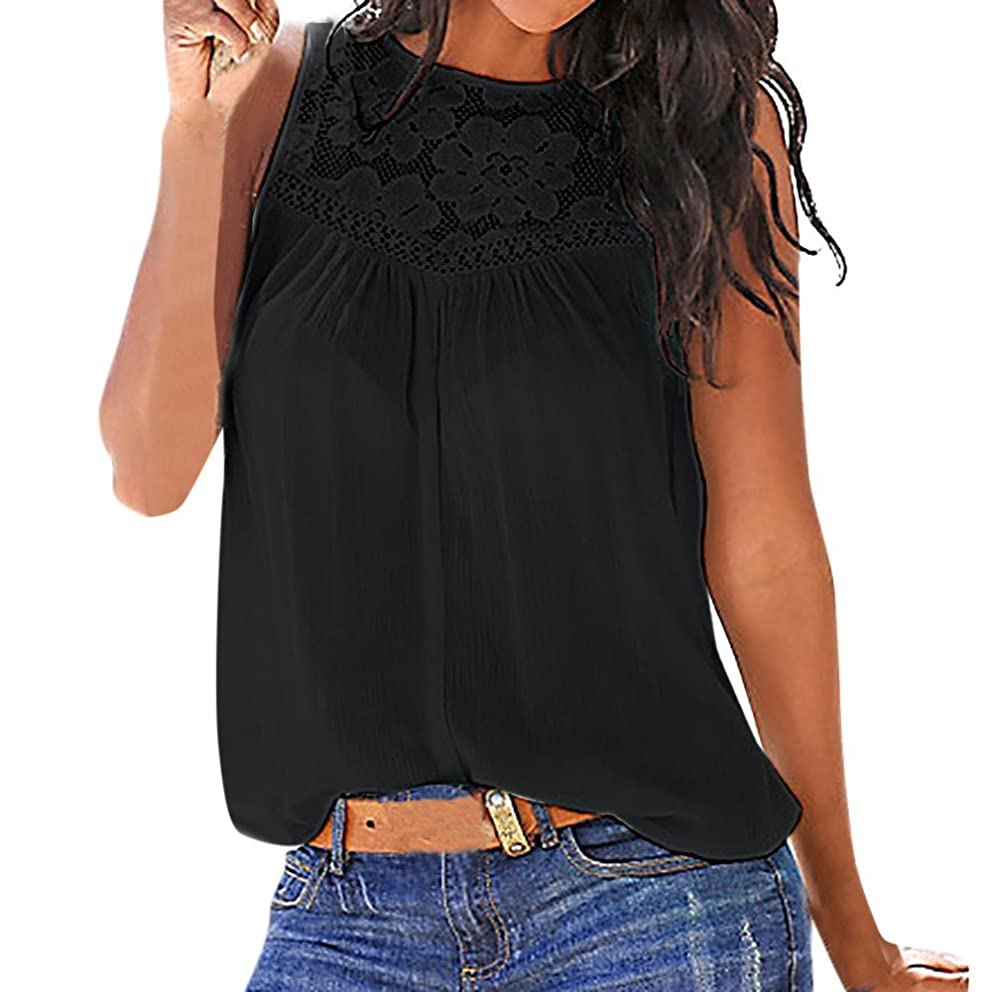 Women Summer Lace Short Sleeve Blouse Casual Off Shoulder Tank Sleeveless Top Knitted Blanket T Shirt Cami