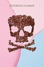 Notebook Planner Skull Crossbones Sugar Dog In Skull Pets Love: Daily Journal, Pretty, To Do List, Goal, Homework, 114 Pag...