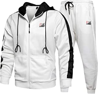 TOLOER Men's Athletic Tracksuit Full Zip Warm Jogging Sweat Suits