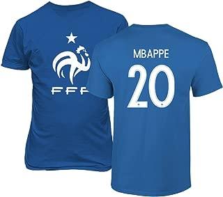 Tcamp France 2018 National Soccer #20 Kylian MBAPPE World Championship Men's T-Shirt