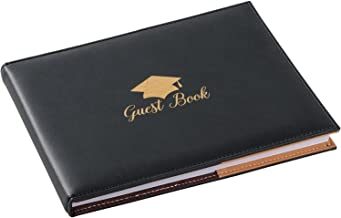 2021 Graduation Guestbook, Guest Sign-in Book for Grad Party (8.3 x 6.5 In, 72 Sheets)