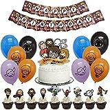 Babioms Decoraciones de fiesta de Harry Potter 36 piezas / Set, Harry Potter Globos,cumpleaños Banners decoración de cumpleaños para niños