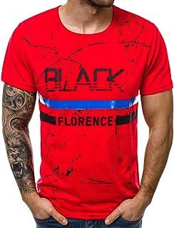 Winsummer Men's Casual Short Sleeve Graphic 88 Tee Shirts Summer Man Tshirts Silm Fit T-Shirt Tops
