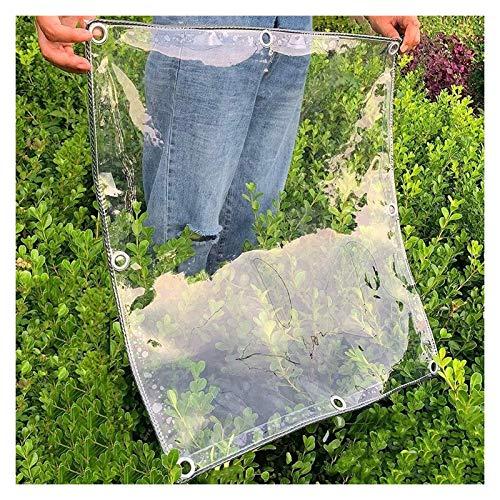 ALGWXQ Lona Transparente con Ojales A Prueba De Viento Invernadero Almacén Cochera Funda De Protección Solar Jardín Mueble Planta Anticongelante Proteccion, 14 Especificaciones
