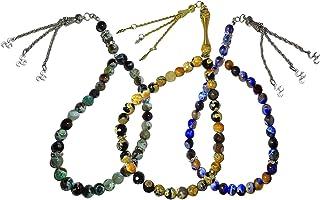 Lot Of 3 Pcs Islamic Handmade Artificial Agate Gem Stone Prayer Beads 33 Misbaha Tasbih Tasbeeh Sibha Masbaha Rosary Musli...