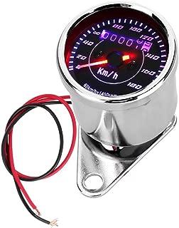 LED Backlight Speedometer,Digital Odometer Universal Motorcycle Dual Odometer Speedometer Gauge with LED Digital Backlight