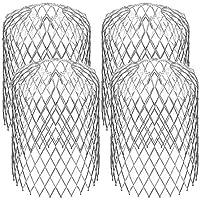 TONGXU 4PCS Filtro de Canaleta de Malla Protectores de Aluminio de Bajante para Detener Bloqueo de Desechos de Hojas Obstrucción Protectores de Canalones Expandibles