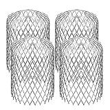 DEDC 4 Pcs Filtres de Gouttière en Aluminium, Diamètre 7,6 cm pour Aider à Garder le Drain Dégagé, Arrête le Blocage des Feuilles et des Débris