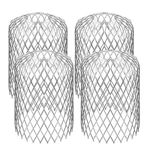DEDC Paquete de 4 coladores para canalones, filtro de aluminio de 2.99 pulgadas, filtro de aluminio, colador de hojas para detener el bloqueo, deja residuos