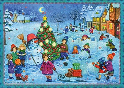 Richard Sellmer Verlag Adventskalender A4 (ohne Schokolade) Wir Bauen einen Schneemann.