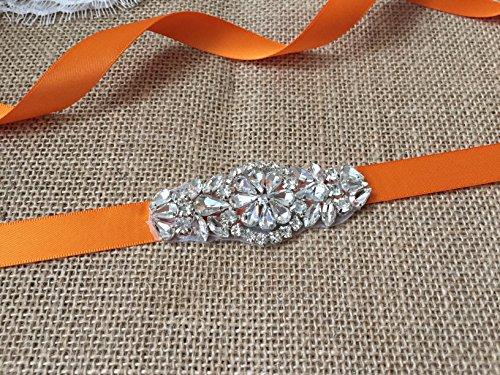 Black Lemandy Eye Style Crystals Wedding Sash Wedding Belts in 4 Colors