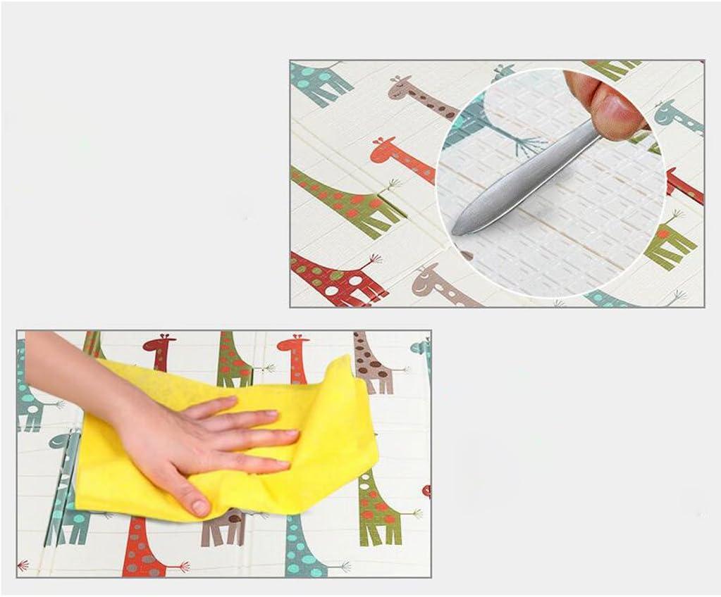 KTYX Kind kruipen mat dubbelzijdig opvouwbare baby's klimmen mat kinderen XPE leven mat 200x150x1cm mat voor kinderen (Color : B) B