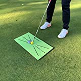 NUENUN Golf Training pad for Swing Detection, Hitting, Mini Golf Training, Auxiliary Games and Outdoor use in Home Office (11.8' X23.6')